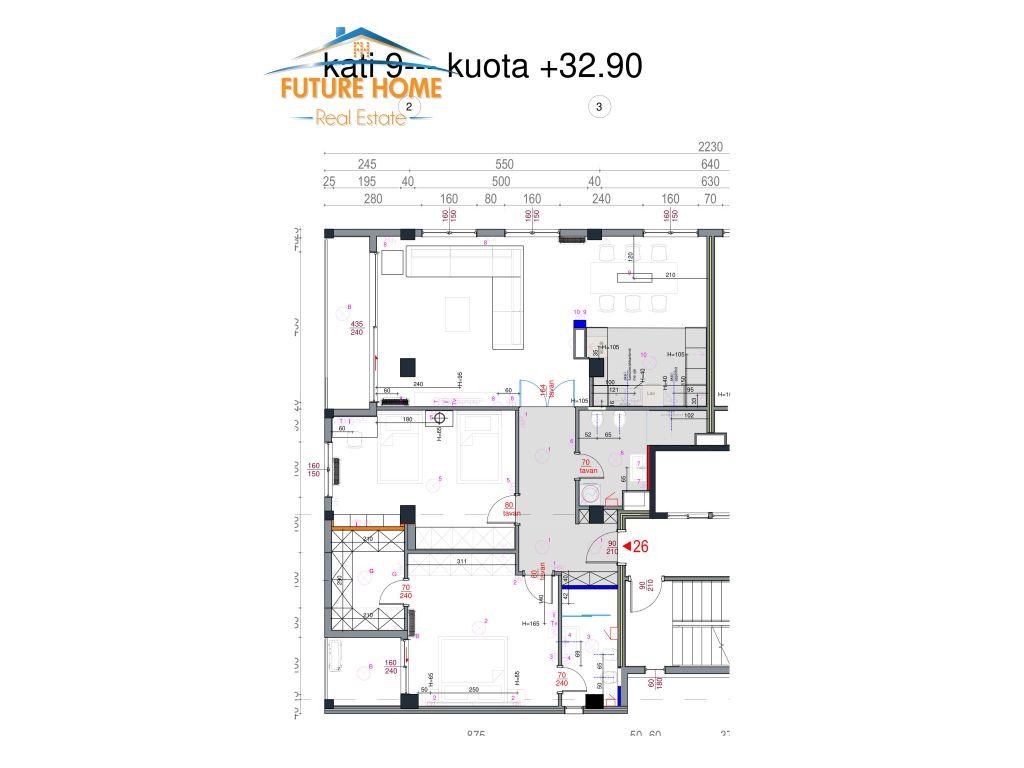 Qera, Apartament 2+1, Blloku, Tiranë