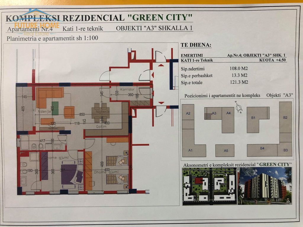 For sale, Apartment 2 + 1, Green City
