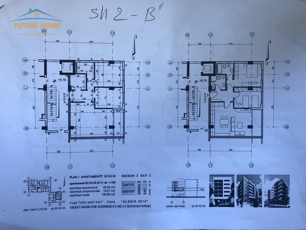 Shitet,Apartament 2+1,Bulevardi Bajram Curri