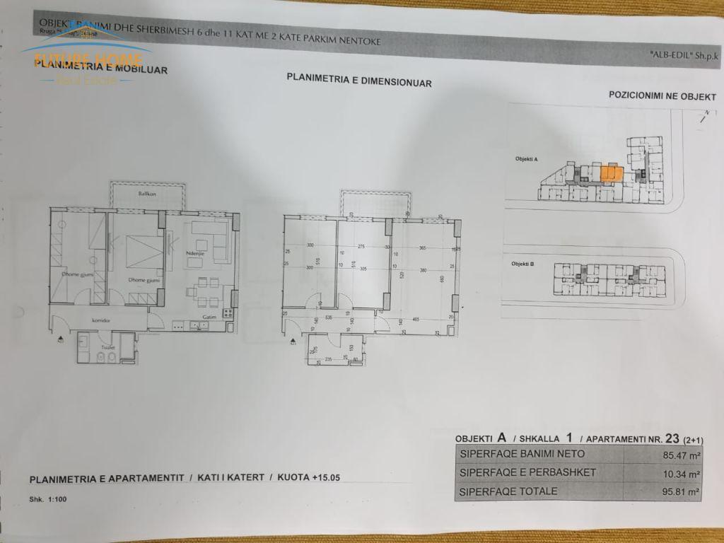 Shitet,Apartament 2+1,Rruga 5 Maji