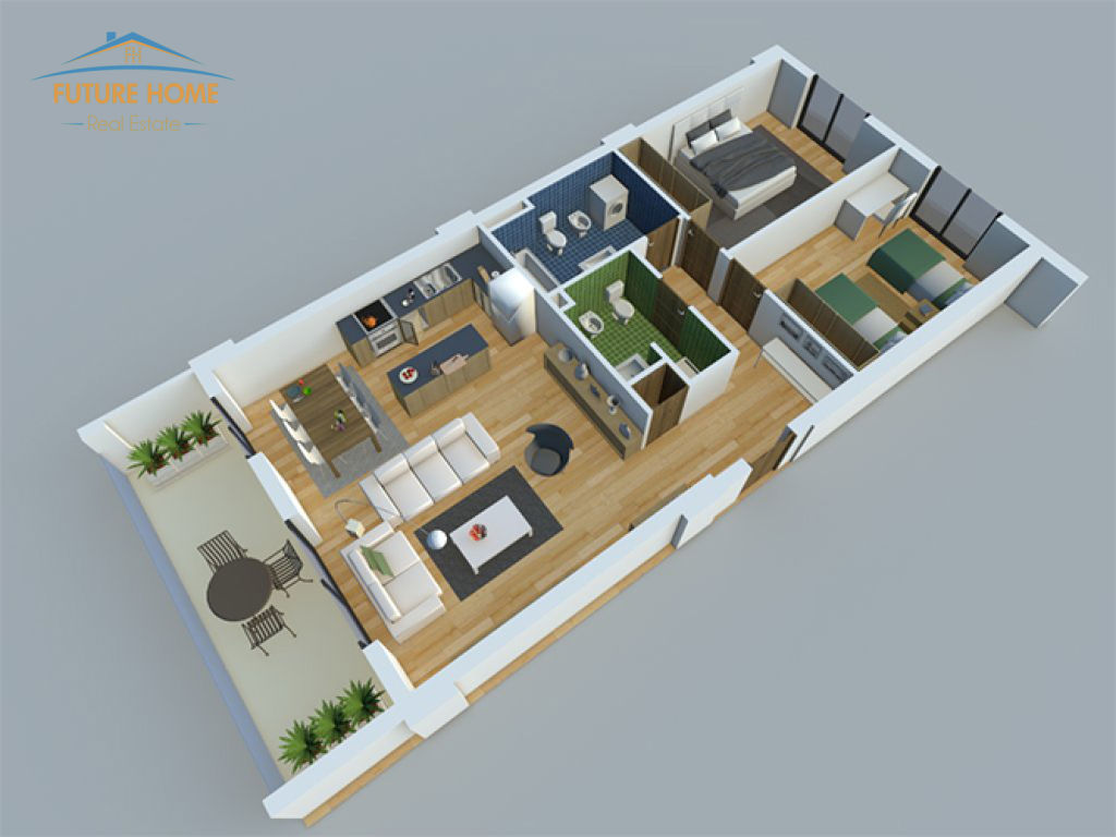Shitet, Apartament 2+1, Rezidenca Alba