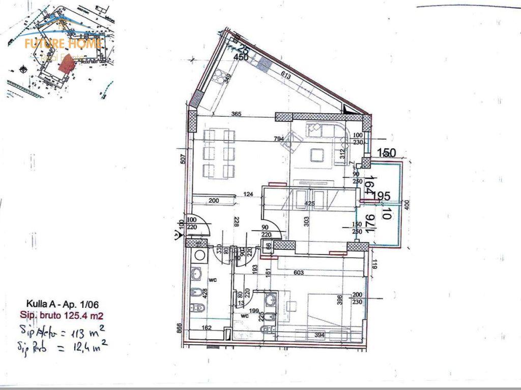 Shitet,Apartament 2+1,Garden Residence Turdiu
