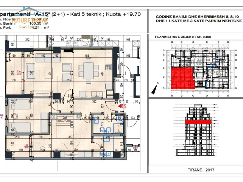 For Sale, Apartment 2 + 1, Block