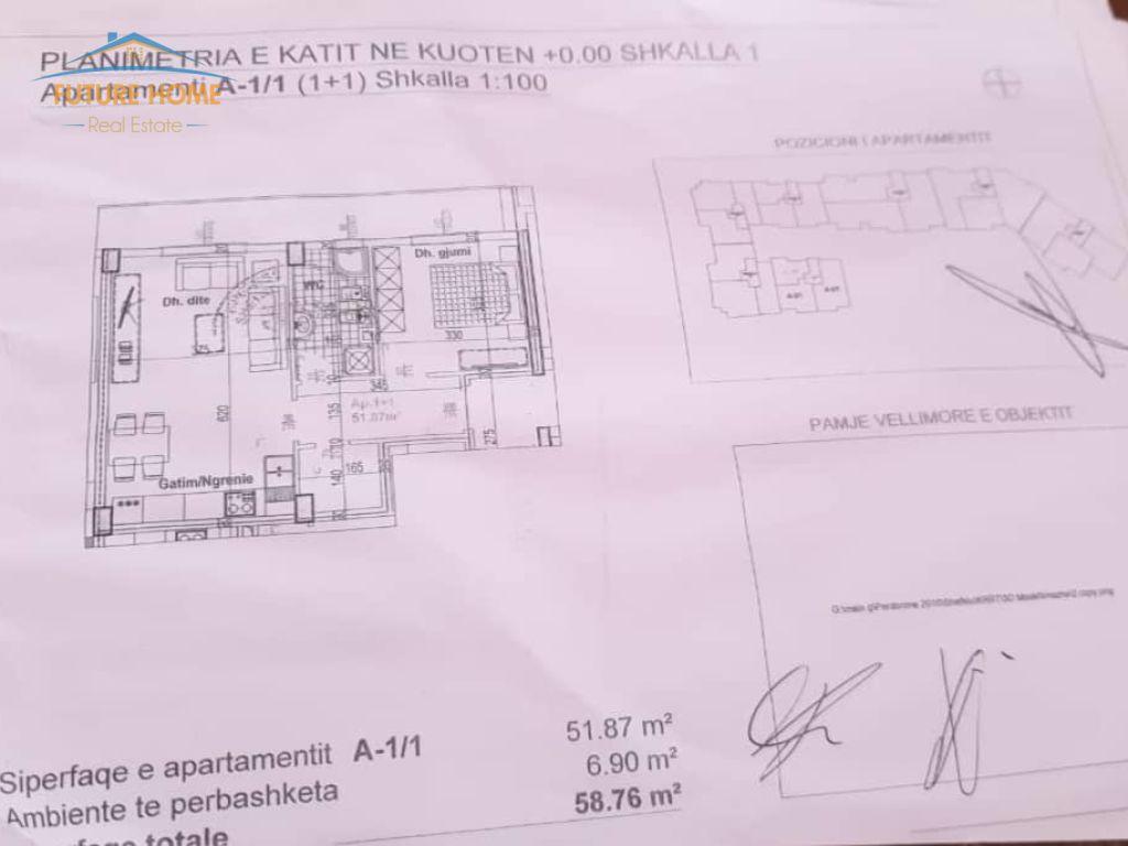 Shitet, Apartament 1+1, Kodra E Diellit , Tiranë.