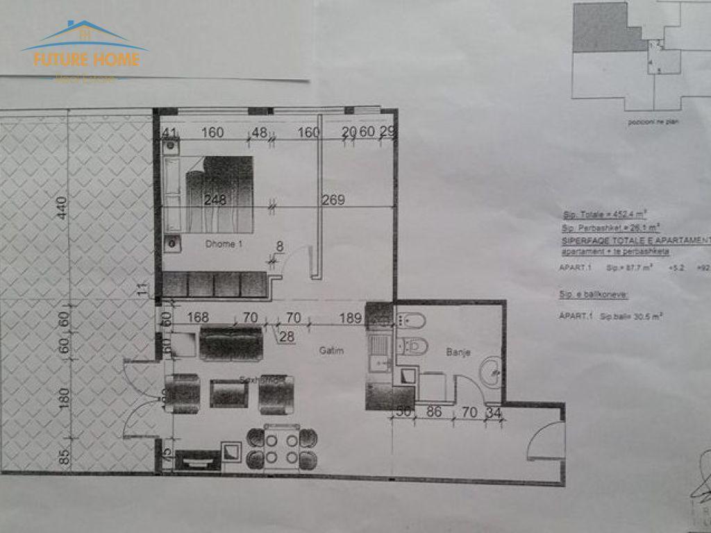 Shitet, Apartament 1+1, Rruga e Barrikadave