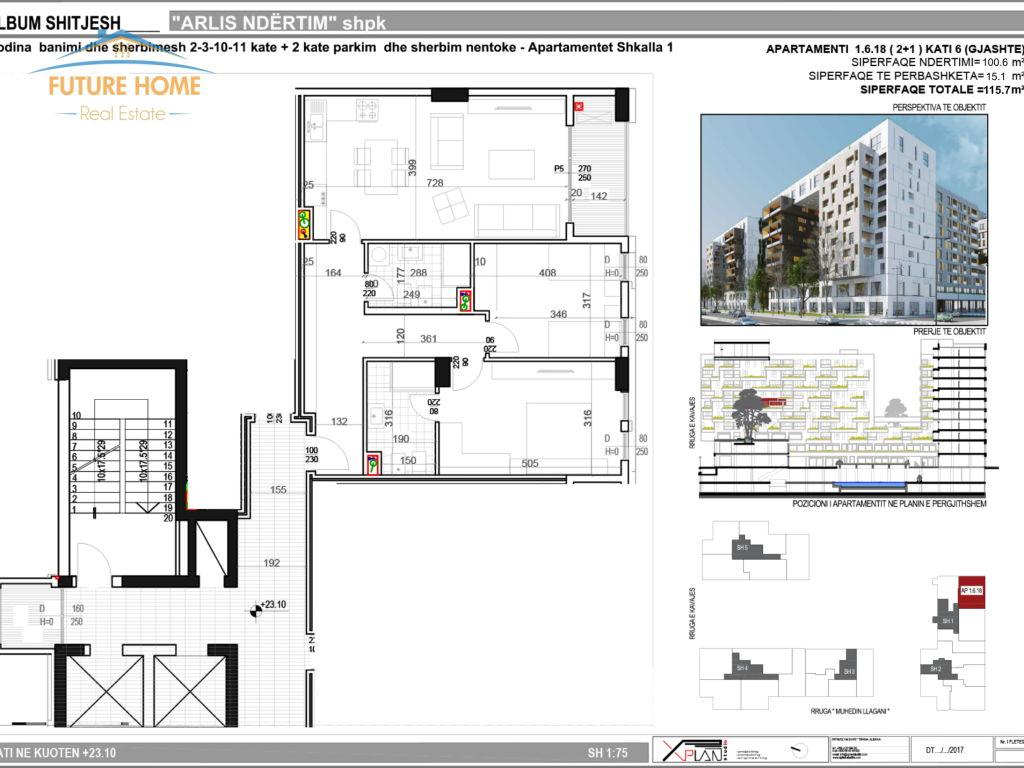 Apartament 2+1, Rruga e Kavajes