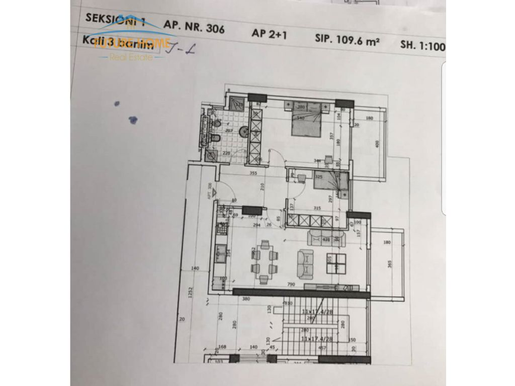 "Shitet,Apartament 2+1,Kompleksi ""Golden Park"""