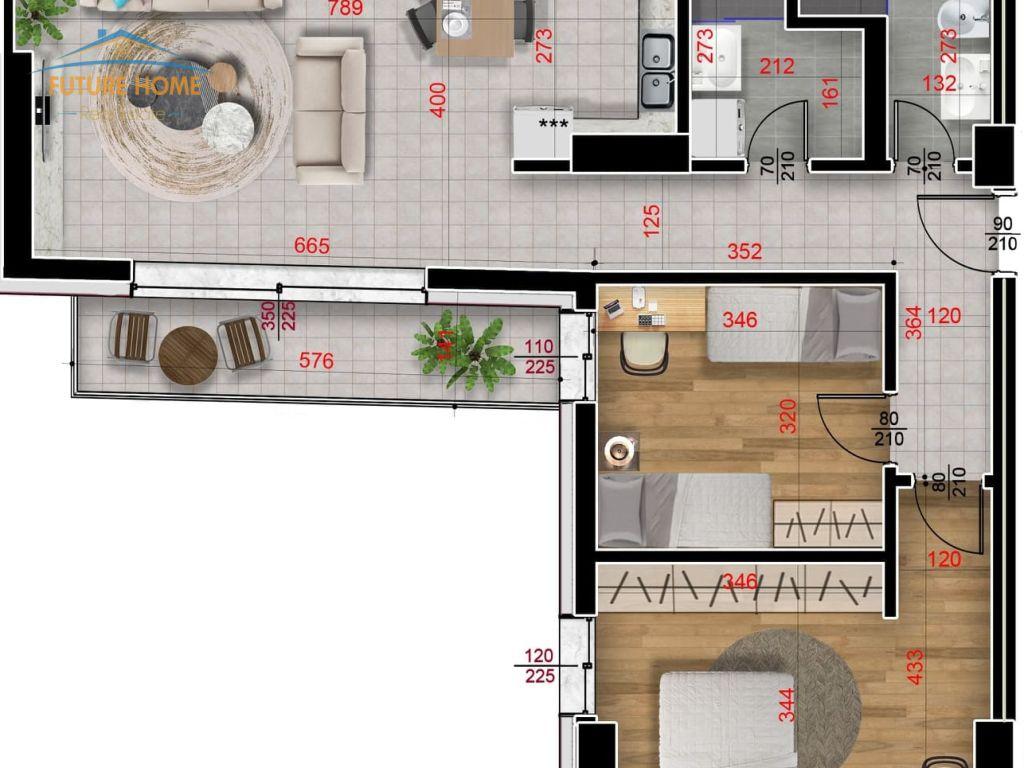 Shitet, Apartament 2+1, Rruga e Barrikadave