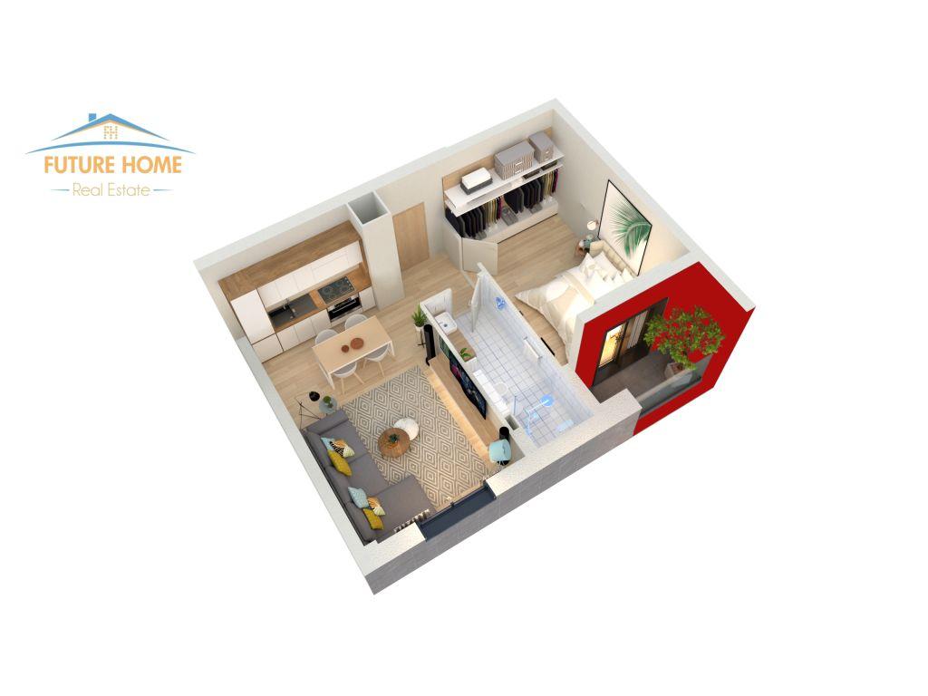 Shitet,Apartament 1+1,Future Home Residence