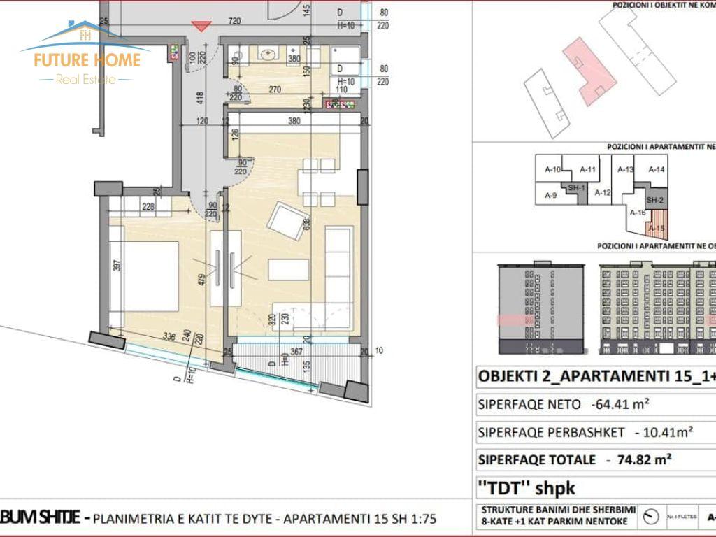 Shitet,Apartament 1+1,Xhamlliku