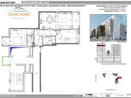 Shitet, Apartament 2+1, Kompleksi Square 21
