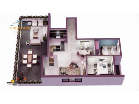 Shitet, Apartament 2+1, Kthesa e Kamzes