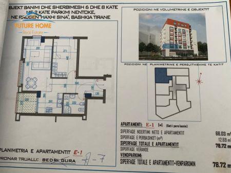 For sale, 1 + 1 Apartment, Rruga Qemal Stafa, Tirana.