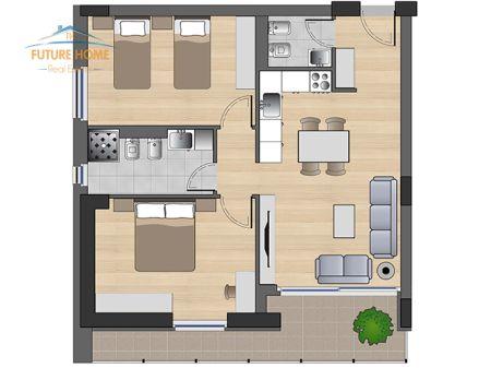Shitet, Apartament 2+1, Kompleksi Fiori di Bosco, Tirane