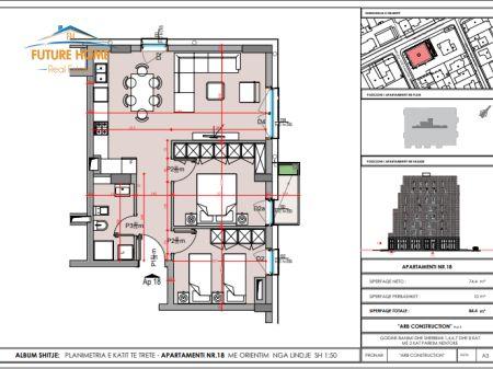 Shitet, Apartament 2+1, Pazari i Ri, Tiranë.
