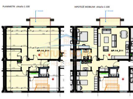 Shitet, Apartament 2+1+2, Liqeni i Thatë, Tiranë