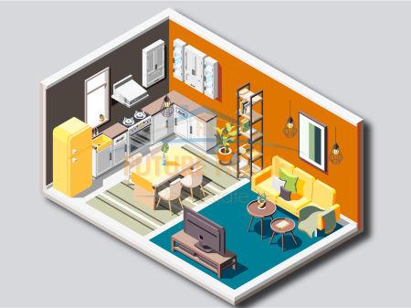 Shitet, Apartament 2+1, Yzberisht